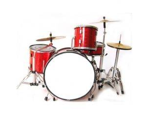 Music Legend 20121 BATTERIA NO BRAND RED CUSTOM Modellino