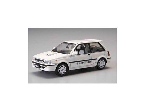Aoshima 75197 TOYOTA STARLET TURBO S WHITE'86 1/43 Modellino